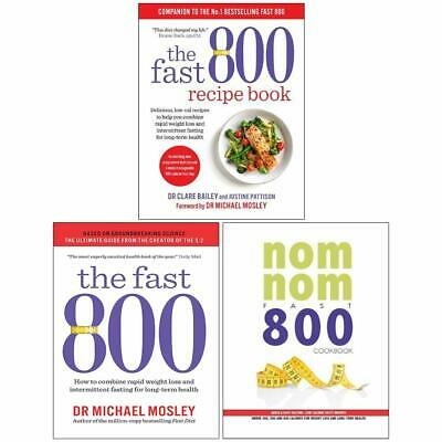 Fast 800 Recipe Book How to combine rapid weight loss 3 Books Collection Set NEW