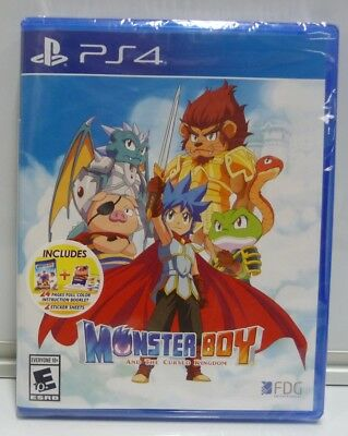 Monster Boy And The Cursed Kingdom  Playstation 4 Ps4 Bonus Edition Region Free