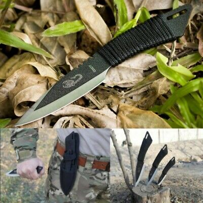 Tactical Stainless Knife Survival Straight Hunting Camping Knives Tools 3Pcs/Set