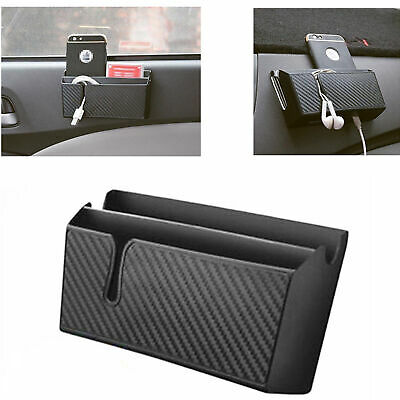 Universal Cars Phone Card Dual-Layer Storage Bag Holder W/ Easy Charging Hole