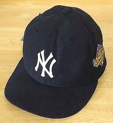 official photos 38354 c28b2 New York Yankees World Series 1996 New Era 59Fifty Navy Hat Fitted Cap 7 3