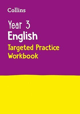Year 3 English Targeted Practice Workbook by Collins KS2 Paperback NEW Book