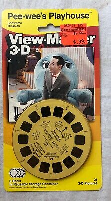 View-Master Pee Wee's Playhouse 3 Reel 3D Pictures Vintage 1987 Reels