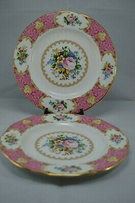 Two Royal Albert Lady Carlyle 8 Inch / 20 Cm Salad / Dessert Plate