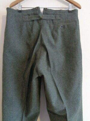 VTG BRITISH NOS 1930s 40s Heavy Wool Trousers Brown Turn-ups