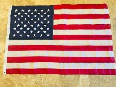 American Flag 5x8 ft USA US Flag Deluxe Embroidered Stars Sewn Stripe 210D NYLON