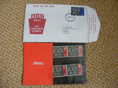 Gb 1971 Heinz Christmas Private Presentation Pack Sg 894 Mint Stamps.