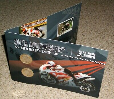 Limited Edition Of 1,000 2019 Isle Of Man Tt £2 Coins Steve Hislop Lap Record
