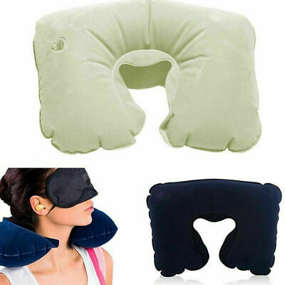 Travel Inflatable Neck Air Pillow Health U-Shape Sleep Head Cushion Pillows CN