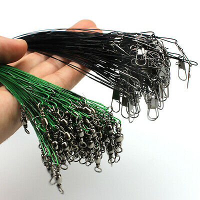 20Pcs Anti-bite Fly  Fishing Lead Ropes Wire Fishing Tackle Lure Thread 15-30CM