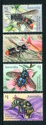 2019 Native Bees - MUH Set of 4 Stamps