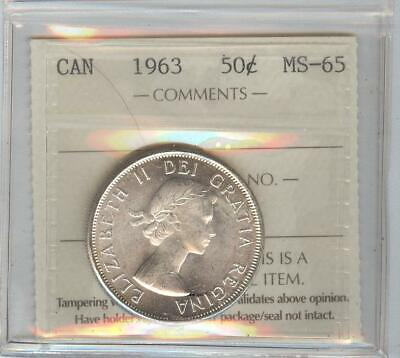 1963 ms 65 50 cent coin.