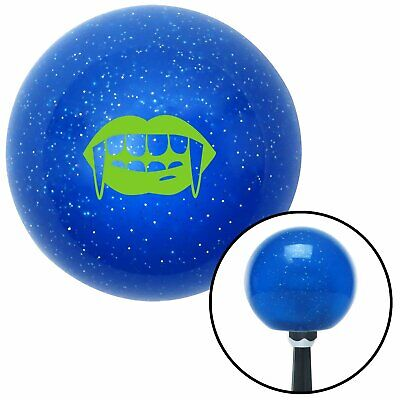 Green Mouth with Fangs Blue Metal Flake Shift Knob uconnect big dog rhr