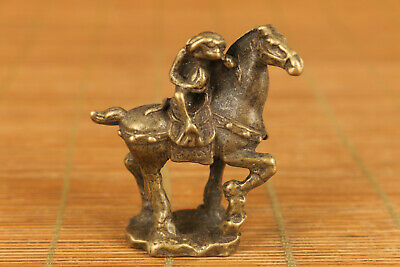 chinese brass casting monkey and horse statue collectable