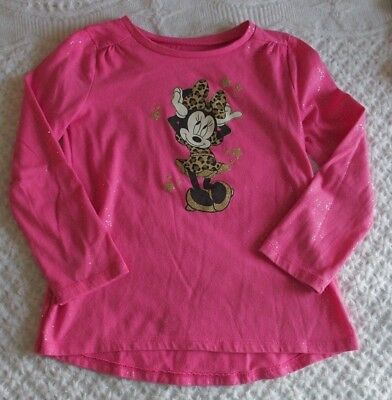 2b5ac4b9 Disney 5 Girls Shirt Minnie Mouse Glitter VGUC Jumping Beans pink leopard