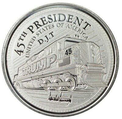 Trump Train 1oz Silver Coin With Promises Made Promises Kept Reverse (t2s)