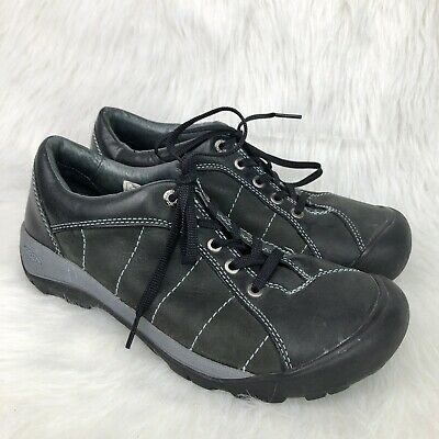 5bfe5c1dab7 Keen Mens 10.5 US 41 EU Nubuck Leather Hiking Shoes Oxfords Lace Up Gray  Black