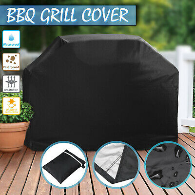 4 Burner Waterproof BBQ Cover Gas Charcoal Barbeque Grill UV Protector Uk Stock