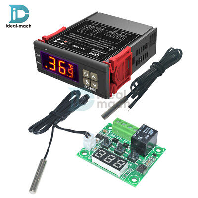 Digital 220V STC-1000 Temperature Controller Thermostat With Sensor W1209
