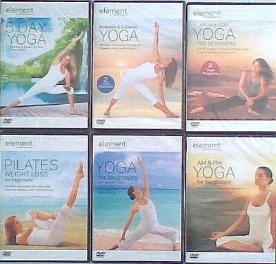 Element Hatha & Flow YOGA For Beginners Slim & Tone - Weight Loss Pilates DVD