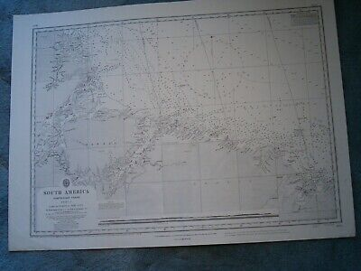 Vintage Admiralty Chart 1803 SOUTH AMERICA - NORTH EAST COAST 1922 edn