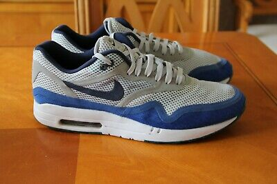 b77448be1b Nike Air Max 1 trainers size 11 uk eu 46 Blue Grey & White excellent  condition