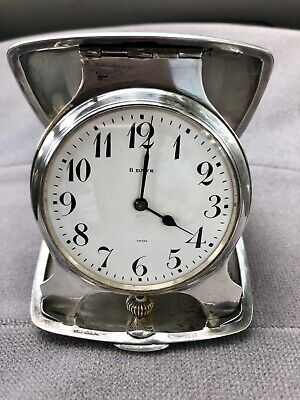 TIFFANY & CO. STERLING SILVER 8 DAY TRAVEL CLOCK Estate sale Find WORKS!