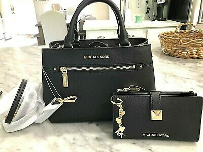 7cc282c15203 Michael Kors Hailee Xs Satchel Crossbody Bag Wallet & Keychain Saffiano  Leather