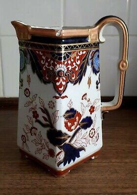 Antique c1900 (Staffordshire) Pottery Jug. Set on the Diagonal. Tinker Home