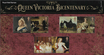 2019 Queen Victoria Bicentenary u/m stamp and miniature sheet presentation pack