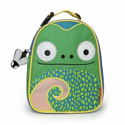 New Skip Hop Zoo Lunchie Insulated Kids Lunch Bag, Cody Chameleon Free shipping
