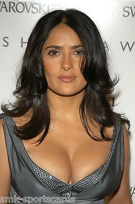 "SALMA HAYEK sexy busty ~ 4x6 GLOSSY PHOTO ~ actress candid #4 ""major cleavage"""