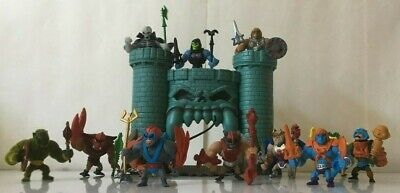 HE-MAN Masters Of The Universe- 6 Mini 2 Packs 12 figures loose Greyskull castle