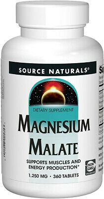 Source Naturals Magnesium Malate 1250mg Per Serving Essential Magnesium Malic -