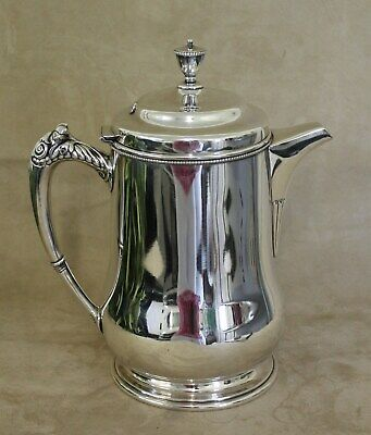Large Antique Victor Silver Ice Water Lemonade Pitcher Insulated Ceramic Lining