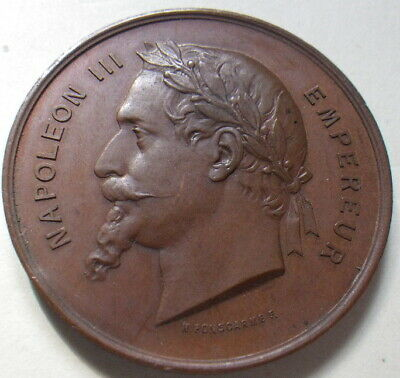 France 1867 Paris Exposition Napoleon III Medal. (EF) Dia: 36mm