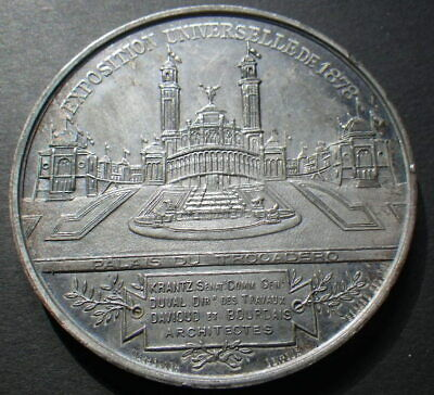 France 1878 Paris Exposition Medal. Architects (EF) Dia: 52mm