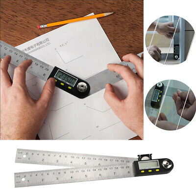 Digital Protractor Goniometer Ruler Stainless Steel Electronic Angle Gauge MA-0