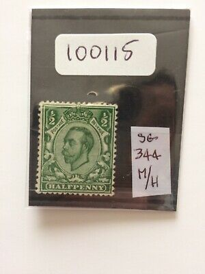 GB George V 1912 1/2d Green (SG 344 Is A Guide Only) M/H (Royal Cypher)