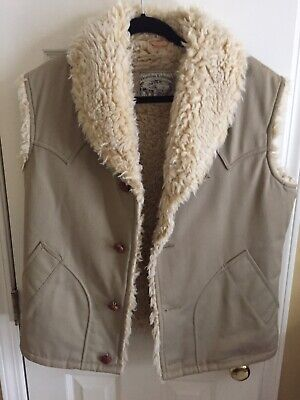 Men's Vintage William Barry, Brandon Colorado Sherpa Vest Size Medium