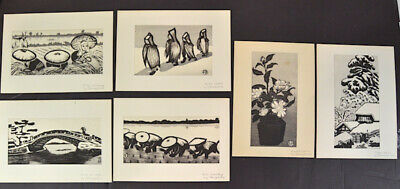 6 woodblock prints by Okuyama Gihachirō, February 17, 1907 – October 1, 1981