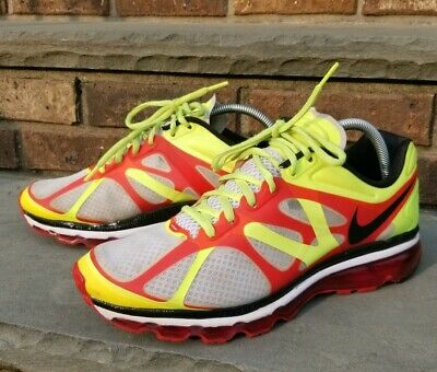 release date b15d1 674a6 Nice Nike + Air Max 2012 White Black Volt Green Red Bubble 487982 Sz 10.5 95