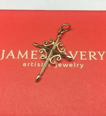 James Avery 14K Yellow Gold Espada Cross Pendant Retired