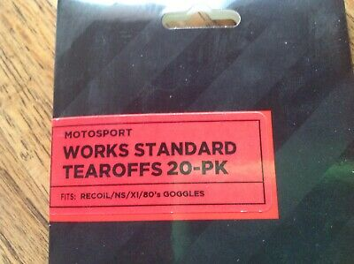Scott Works Standard 20-Pack Tear Offs for Recoil 89X 87 83 Goggle  205159-223