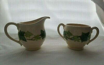 Vintage Franciscan Ivy creamer and Sugar Bowl Set (no lid), pre owned