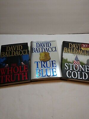 David Baldacci Lot Of 3 Hardcover The Whole Truth, True Blue, Stone Cold