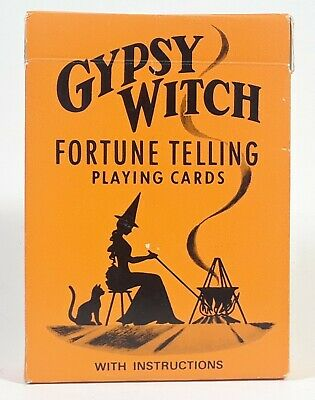 Gypsy Witch Fortune Telling Playing Cards Vintage Tarot Deck Complete Set NM!
