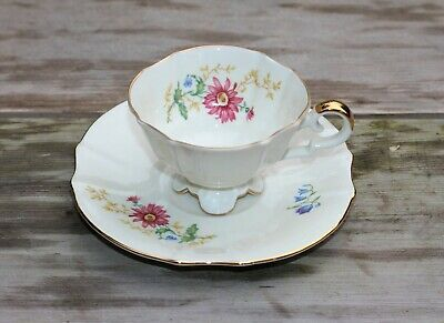 Sweet Almost Miniature Porcelain Cup And Saucer From Bavaria