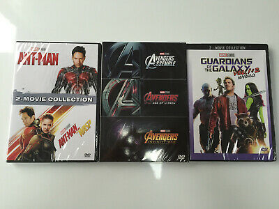 Marvel Lot DVD Movie Collection Ant-man Wasp Avengers  1 2 3 Guardians of Galaxy