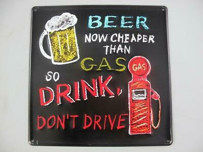 G3535: Nostalgia Tin Sign Beer Don'T Drive Pubs Wall Sign 30x30